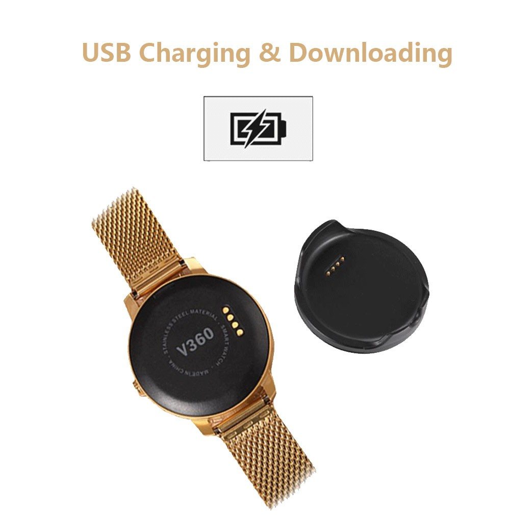 Bluetooth 4.0 Smart Watch Phone 1.22″ IPS Display Screen Support MP3 Player Pedometer Sleep Tracker for Android IOS Smartphone