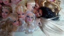 5 unids/lote moda originales cabezas de muñecas para muñecas DIY estilo de la mezcla 1/6 cabezas de muñecas muchacha venta al por mayor bonito regalo del envío gratis