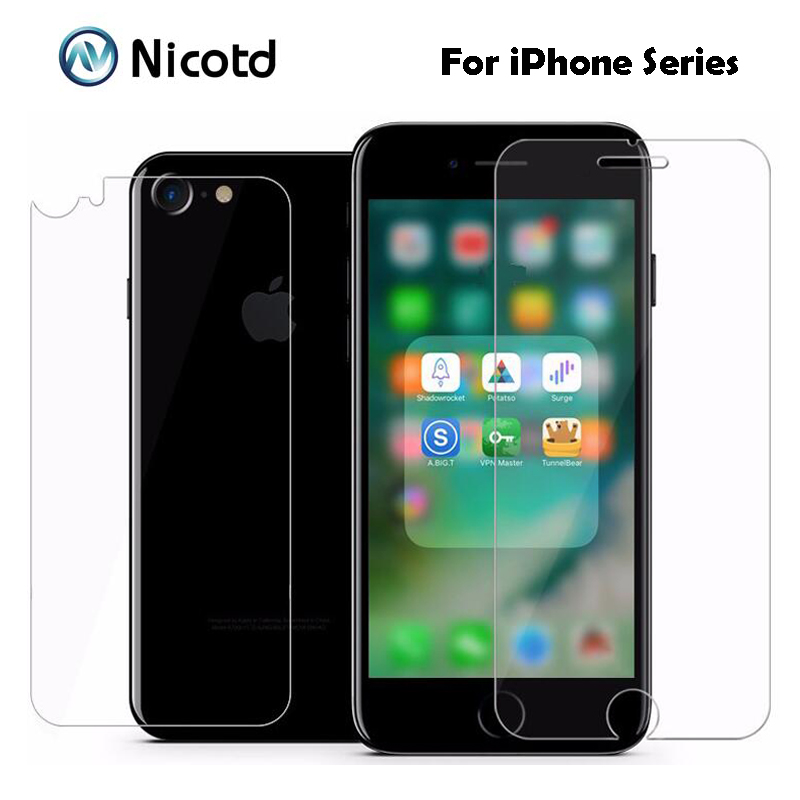 2Pc/Lot 0.3MM 9H 2.5D Coated Front+Back Tempered Glass For iPhone 7 6s 6 Plus 5s 5 SE 4s 4 ExplosionProof Screen Protector Film(China (Mainland))