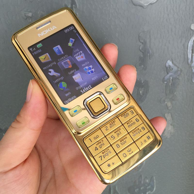 Original Nokia 6300 Mobile Phone Classic Cellphone 6300 Gold & One year warranty & Russian Keyboard Arabic Keyboard(China (Mainland))