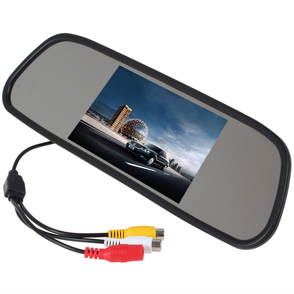 5 inch tft lcd wide view angle car rear view mirror. Black Bedroom Furniture Sets. Home Design Ideas