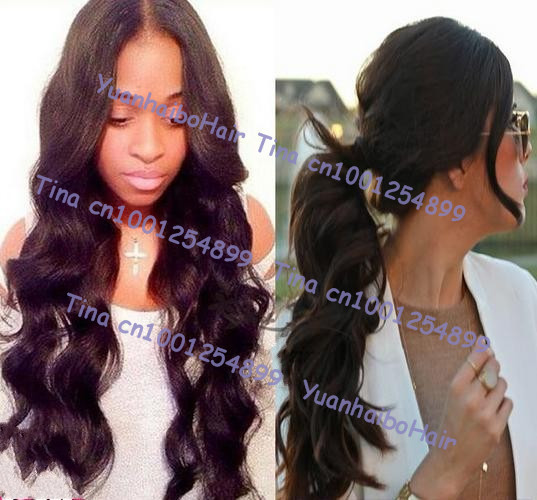 In Stock! Top 6a quality 24inch natural color virgin brazilian loose wave lace front wigs high ponytail Free shipping(China (Mainland))