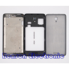 BaanSam New LCD Front Frame Middle Frame Battery Back Cover For Lenovo S660 S668T Housing Case With Power Volume Buttons