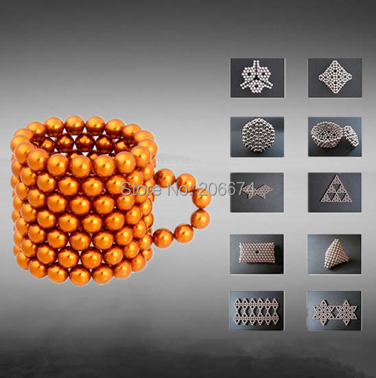 Hot 125pcs 5mm DIY Neocube neodymium Toy Neo Cubes Puzzle Cube Toy Sphere Magnet Magnetic Bucky Balls Buckyballs(China (Mainland))