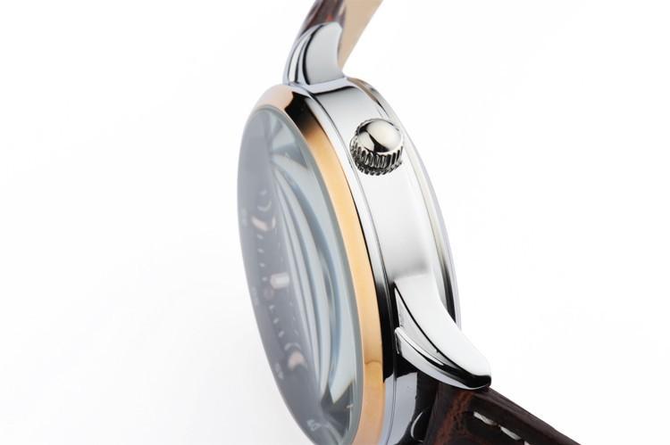 Марка EYKI Azera Business series Кожаный Полую Конструкцию Процесса Обратно Через Механические Мужской Моды Личности