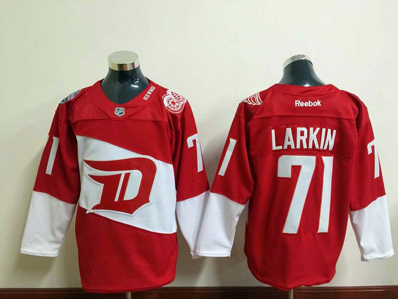 2016 Stadium Series Team Premier Jersey Detroit Red Wings Mens Jerseys #71 Dylan Larkin Red Ice Hockey Jerseys 3544