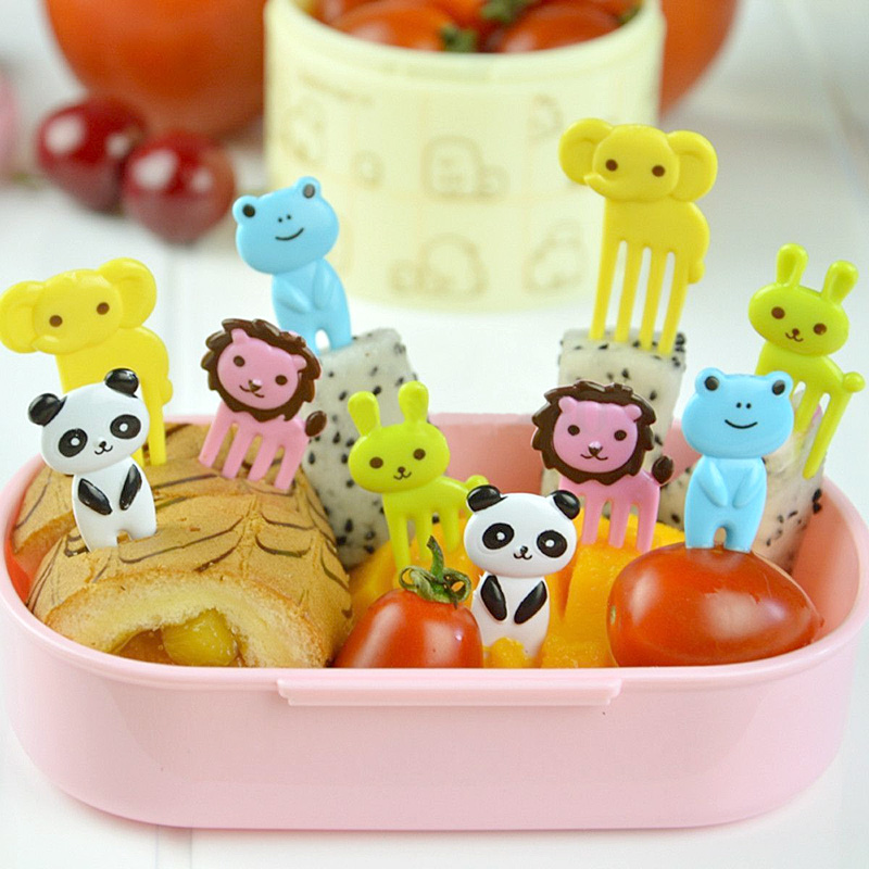 cute kitchen 2 packs bento animal food fruit picks forks lunch box accessory decor 81166 in. Black Bedroom Furniture Sets. Home Design Ideas