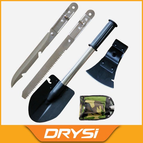 Portable Outdoor camping tools 4 piece sets spade axe saw and knife multi purpose mini outdoor