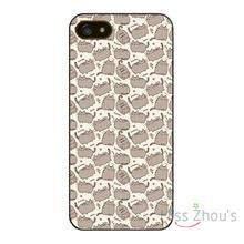 For iphone 4/4s 5/5s 5c SE 6/6s plus ipod touch 4/5/6 back skins mobile cellphone cases cover Pusheen the Cat cute cats