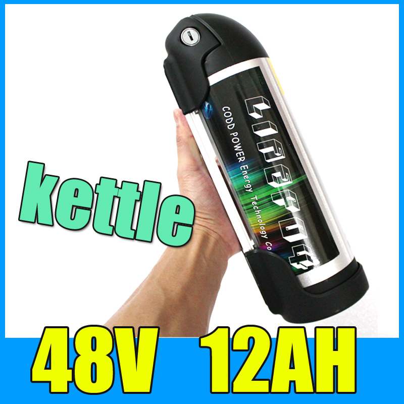 8fun battery 48V 12AH Kettle Cylindrical Aluminum alloy Lithium Battery Pack , 13S 54.6V Electric bicycle Scooter BBSHD battery(China (Mainland))