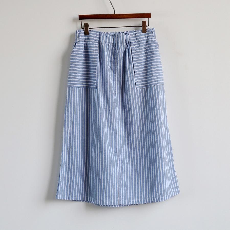 2016 summer skirt cotton striped skirts