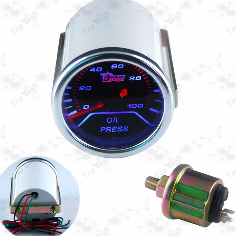 "2""(52mm) smoke 270 Degree oil pressure gauge/auto meter/auto gauge/car meter/tachometer(China (Mainland))"