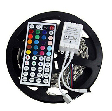 5m/lot 5050 SMD LED RGB Strip Light Non-waterproof DC12V 60led/m LED Strip Tape with 44 key remote controller<br><br>Aliexpress