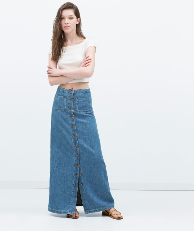 Long Dark Wash Denim Skirt SKIRT94 Womens Maxi Full Length Jean Skirt $ 49 00 Prime. out of 5 stars Ice Cool. Women's Juniors Casual High Waist A-Line Split Blue Jean Denim Long Pencil Skirt $ 27 99 Prime. 4 out of 5 stars 1. Youhan. Women's Vintage Fitted Cotton Denim Pleated Long Maxi Skirt $ 28 99 Prime. out of 5 stars