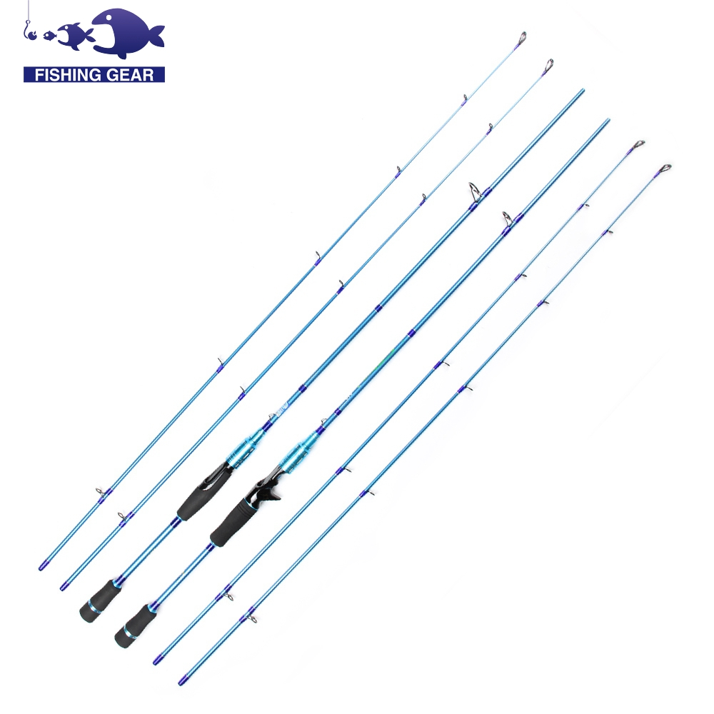 2 Tips carbon fishing rod 2.1m spinning casting carbon fiber fishing pole canne a peche baitcasting rod carbon fishing tackles