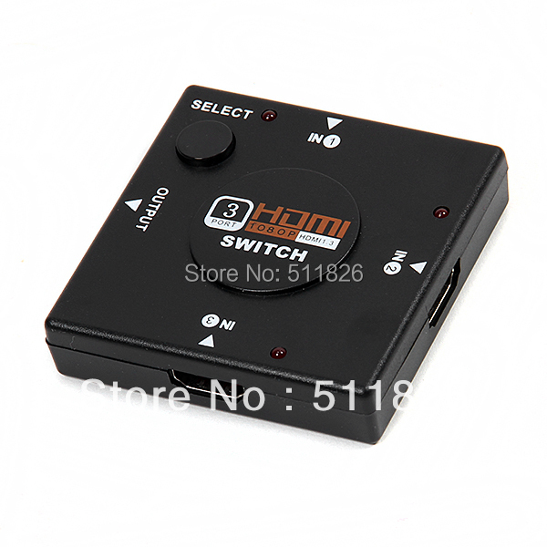 Mini 3 Port HDMI Switch Switcher HDMI Splitter HDMI Port for HDTV PS3 1080P Vedio #8173