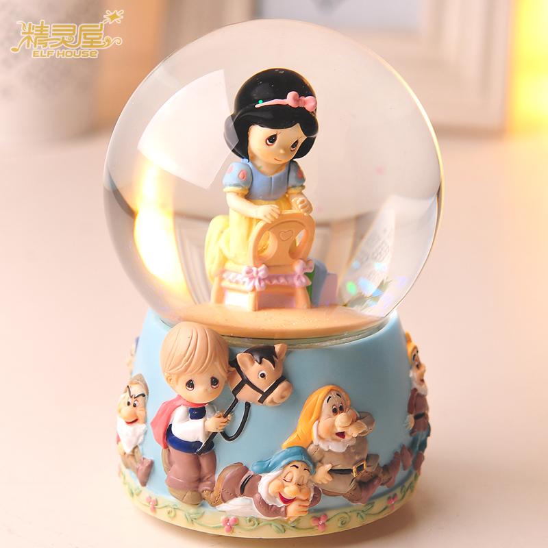 Snow White crystal ball music box music box creative birthday gift to send his girlfriend girlfriends girls Children(China (Mainland))