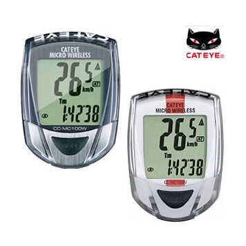 CATEYE Micro Wireless Computer CC-MC100W MTB Mountain Road Bike Bicycle Cycling Speedometer Backlight Cat Eye CC MC100W(China (Mainland))