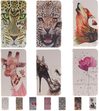 Fashion Cartoon Tiger Pattern Wallet Style Flip PU Leathert Cover For LG K8 LTE K350E K350N Cases Mobile Phone bags(China (Mainland))