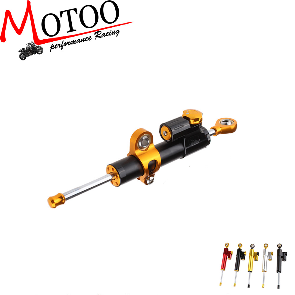 Motoo Steering Damper Motorcycle CNC Stabilizer Linear Reversed Safety Control For yamaha