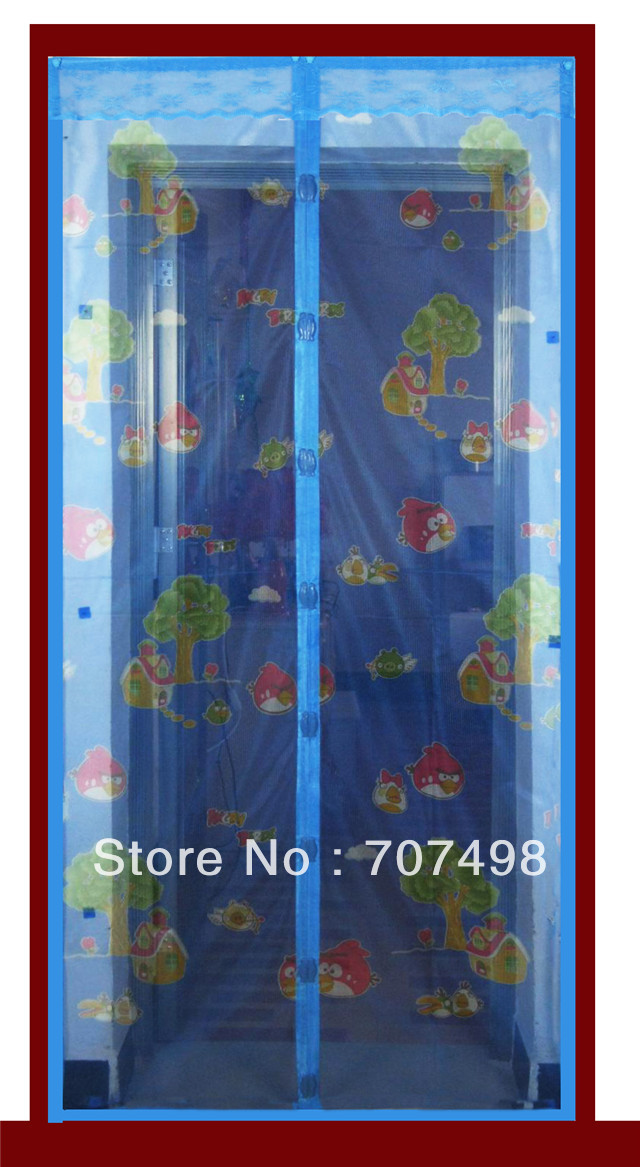 Customize screen door 2013 blue print magnetic screen door flower measurement(China (Mainland))