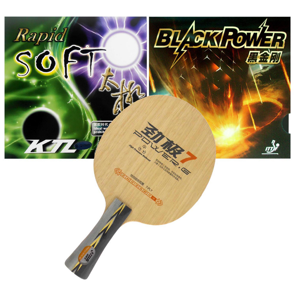 Pro Table Tennis (PingPong) Combo Racket: DHS POWER.G7 + LKT Black Power / LKT (KTL) Rapid SOFT<br><br>Aliexpress