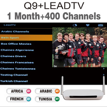 Android Tv Box Q9 Android4.4 512M/8G Wifi Quad Core with 1Month Iptv Subscription Iptv Account With 400 Arabic French Channels