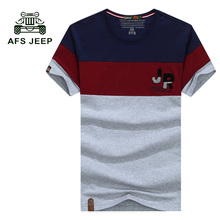 Buy AFS JEEP 2017 NEW Style T shirt Men Summer Mens Fashion Casual Short Sleeve O-neck T-shirt Male patchwork Tee Shirts 50z for $15.66 in AliExpress store