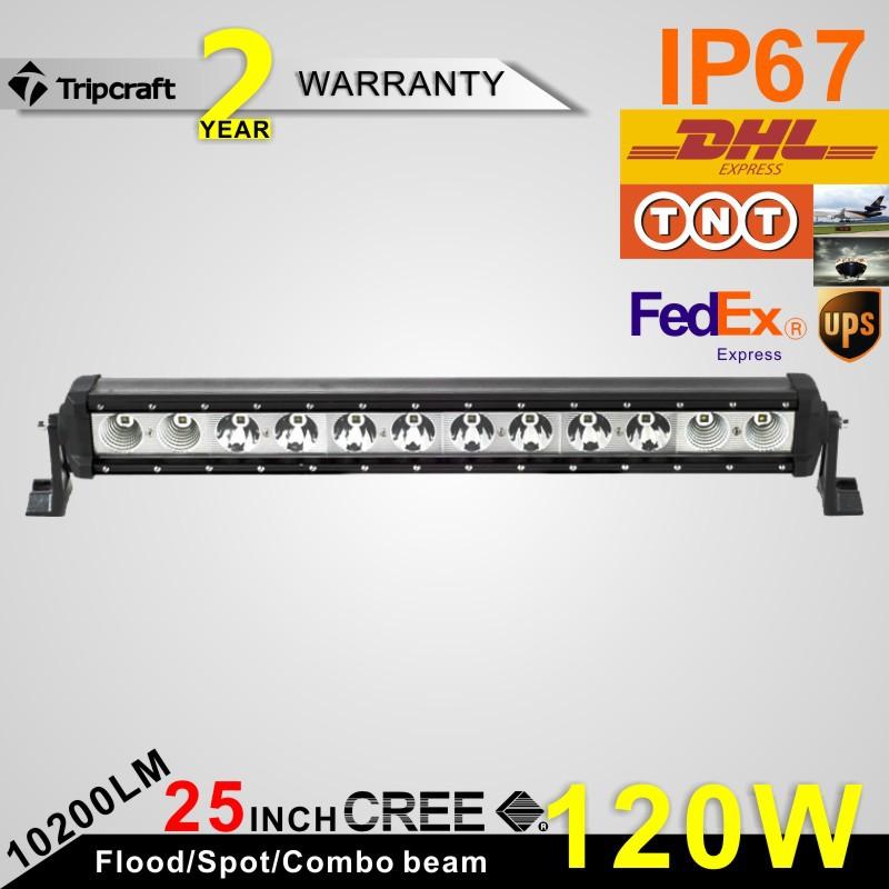Фотография 25inch 120W CREE LED Driving Light Bar for offroad for trucks 10200 lumen