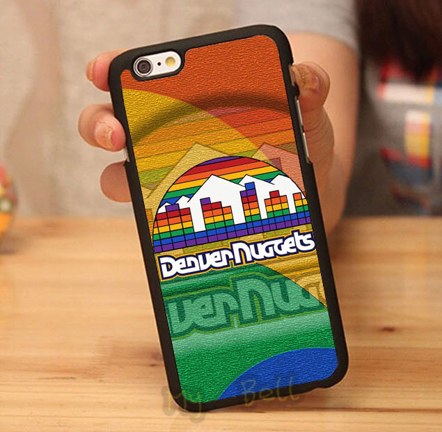 denver nuggets luxury black hard skin mobile phone cases cover housing for iphone 4s 5 5s 5c 6 6 plus cases free gifts(China (Mainland))