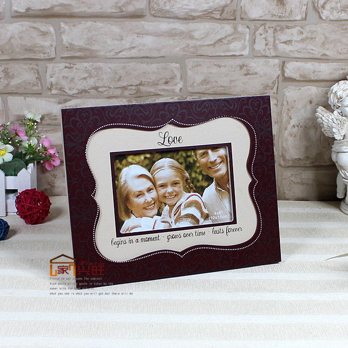 European and American Popular Full English Painted Wooden Photos Frame Fashion Gift for Friends(China (Mainland))