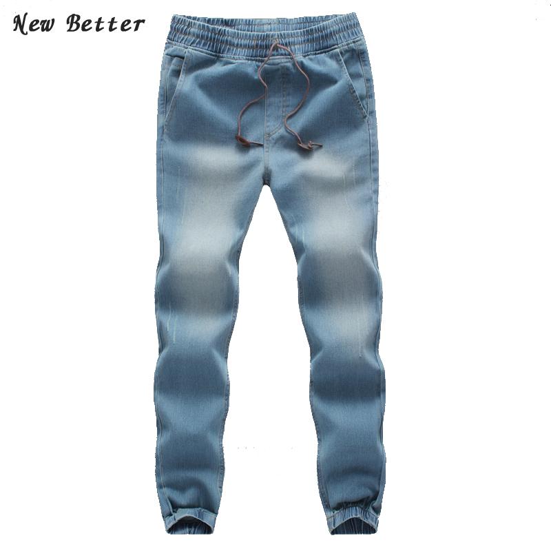 2015 new fashion skinny jeans, Slim Pencil pants denim Closing leg jeans male taxi fertilizer XL elastic stretch pants feet pant