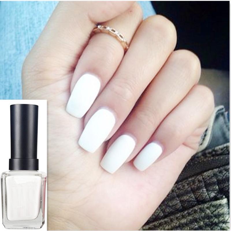 1Pc 12ml White Color Matt Dull Polish Nail Enamel Nail Art Polish Varnish Manicure DIY Decoration Tools #16