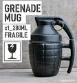 Free Shipping 1Piece Pineapple Hand Grenade Designed Ceramic Mug Cup Novelty Grenade Tea Cup White
