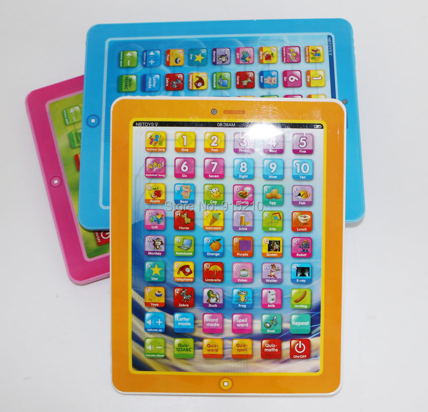 Kids Educationala Toy English Learning Machine Toy Pad Tablet Computer Children's Mini Pad Baby Toy Gifts with music 3 colors(China (Mainland))