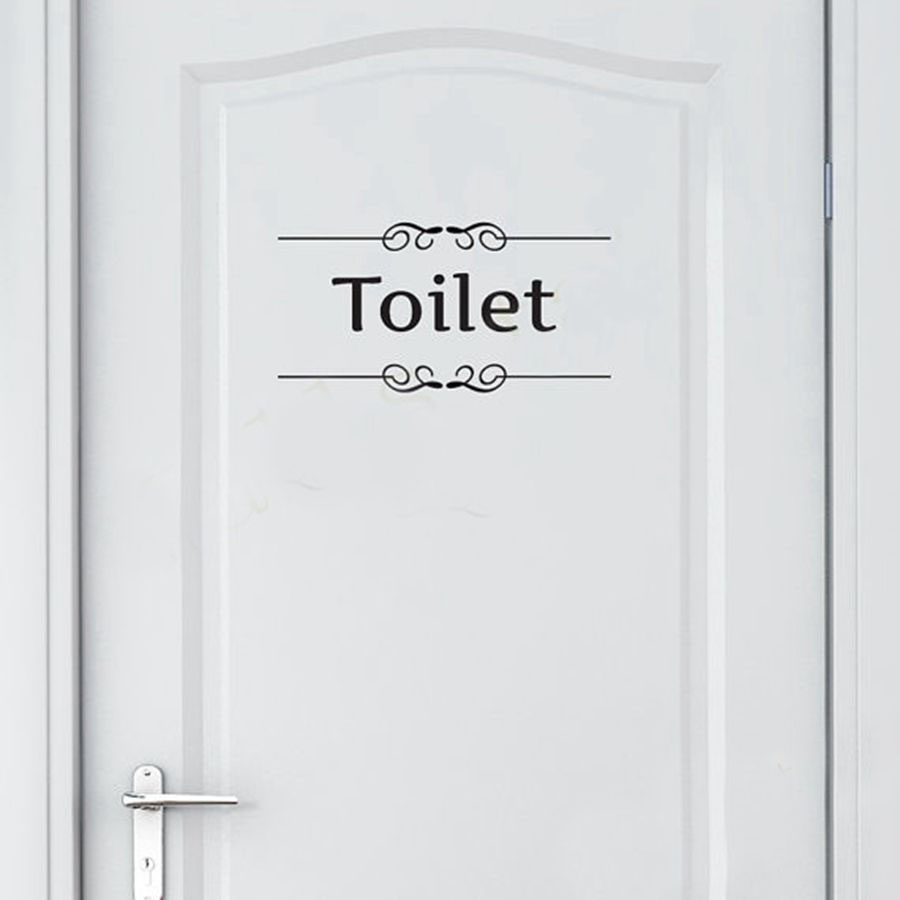 Buy free shipping vintage wall sticker for Decoration pour porte wc