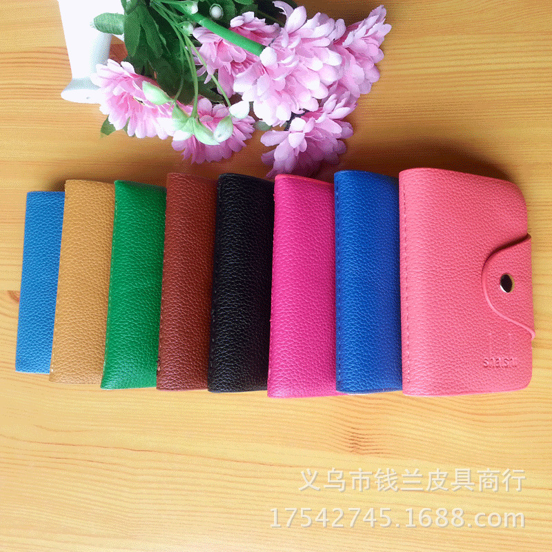 Convenient Soft Premium Leather Wallets Credit Card Holder ID Business Case Purse Unisex Classy 8 Color CH001(China (Mainland))