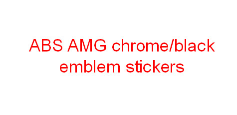3D Special ABS Chrome/black Finished AMG Emblem Car Sticker(China (Mainland))