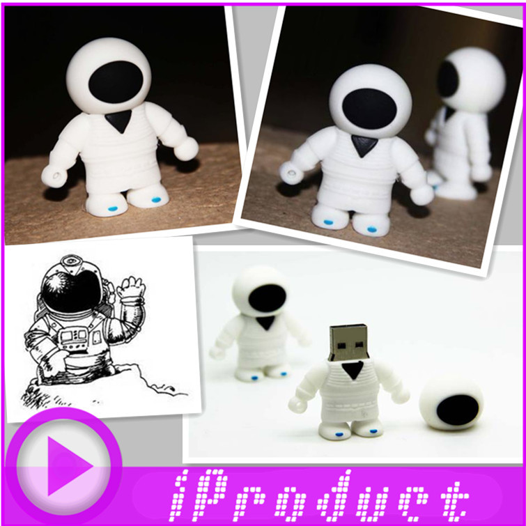 USB Astronaut USB Space man walking on space universe white suit float men flash drive disk quality quick gift(China (Mainland))
