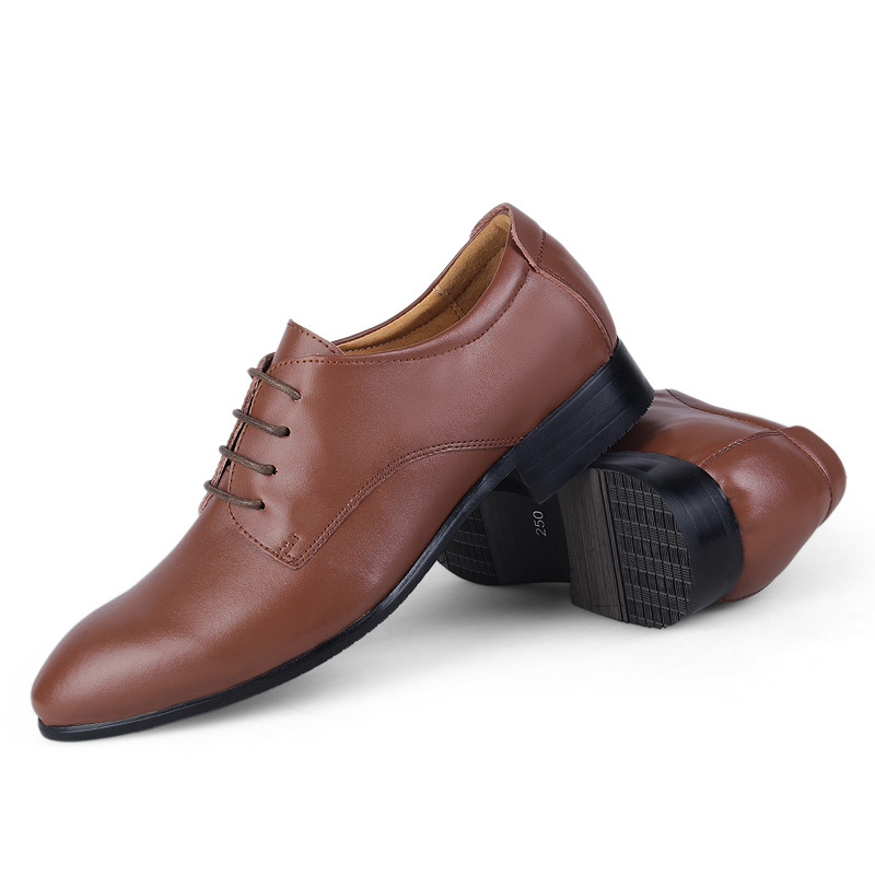 Men genuine leather shoes,Plus size Wedding shoes for man,Oxford business shoes,men Dress shoes #1569(China (Mainland))