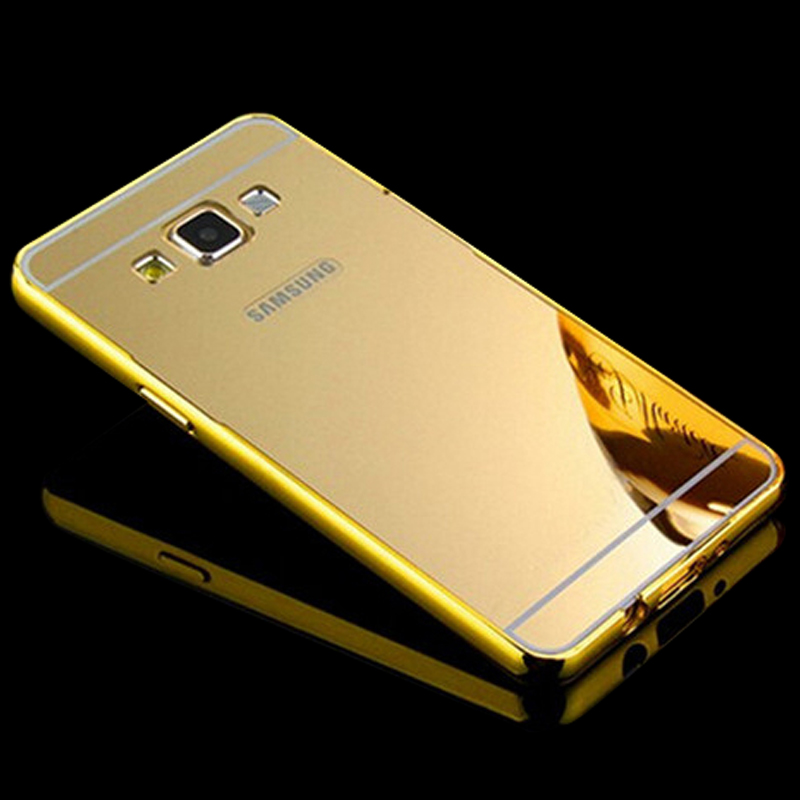 ... Aluminum Frame + Mirror Acrylic Back Cover For Samsung J1 Case bumper