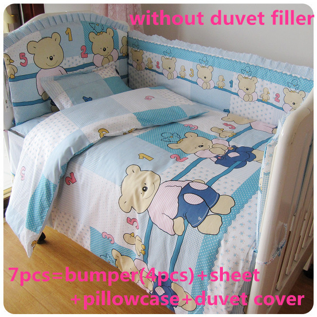 Здесь можно купить  Promotion! 6/7PCS bedding kits bumper cotton baby bedding kit bed around 120*60/120*70cm Promotion! 6/7PCS bedding kits bumper cotton baby bedding kit bed around 120*60/120*70cm Детские товары