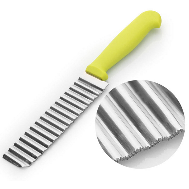 New Kitchen Potato Slicer Cutters Small Size Stainless Steel Potato Chips Cut Kitchen Knife Slicers Cooking Tools Reusable(China (Mainland))