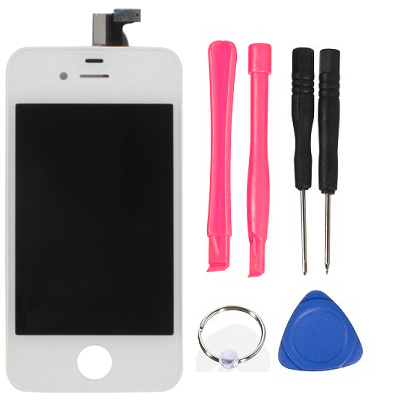OEM Version ( LCD +Touch Pad +LCD Frame ) LCD display replacement screen with Digitizer for iPhone 4S, White(China (Mainland))