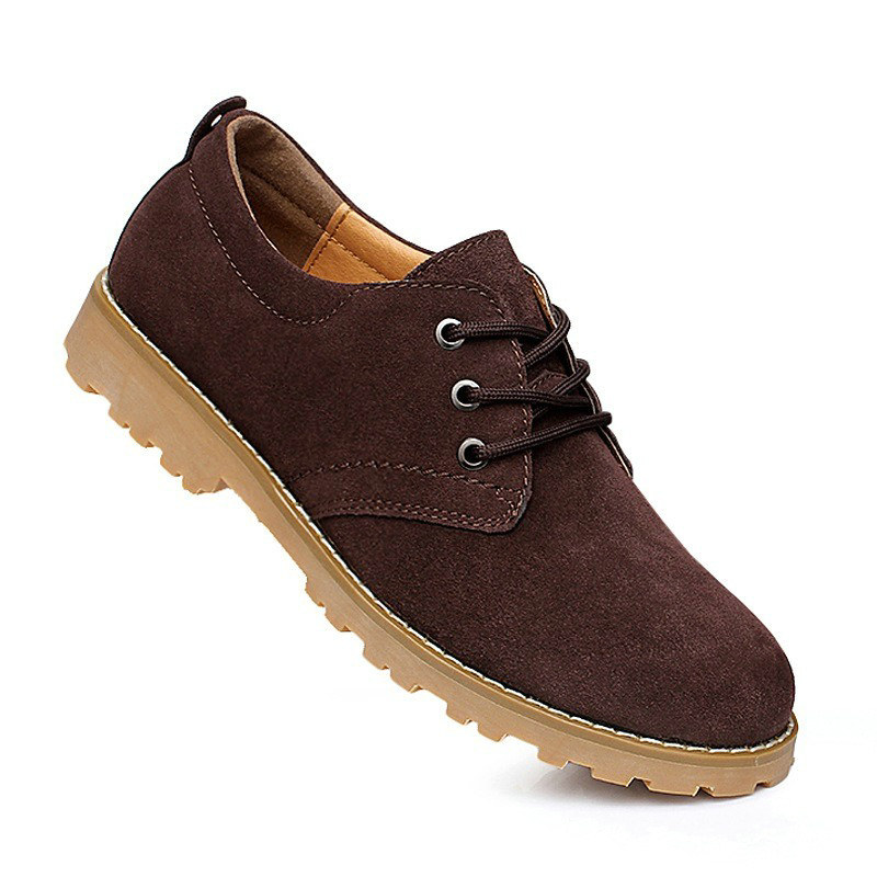 autumn mens designer shoes fashion solid suede shose