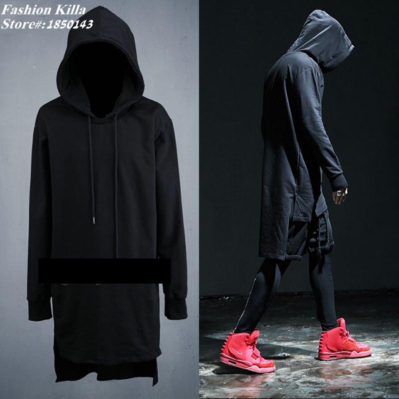 swag clothes mens side split oversized big hoodies