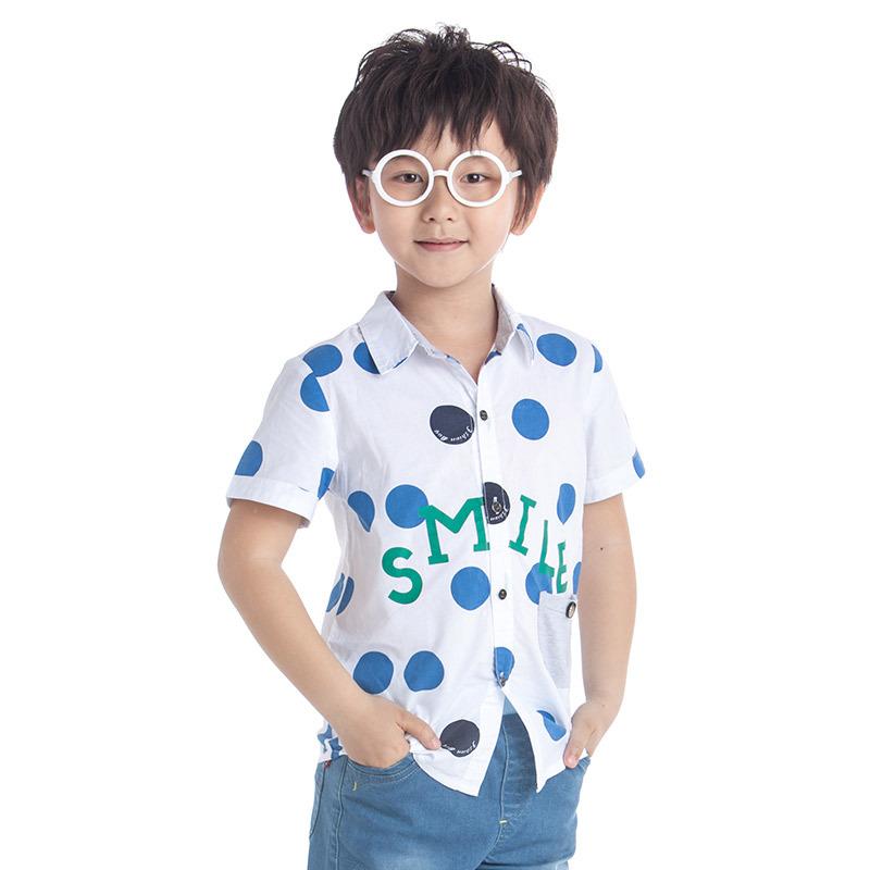 boys shirt short sleeve kids dress shirt fashion white kids shirts summer brand boys boys clothing(China (Mainland))