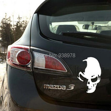 2pcs Reflective Sneak Whimsy Ghost Rider Skull Car Stickers Decal Body Parts Accessories Decoration For Whole Body(China (Mainland))