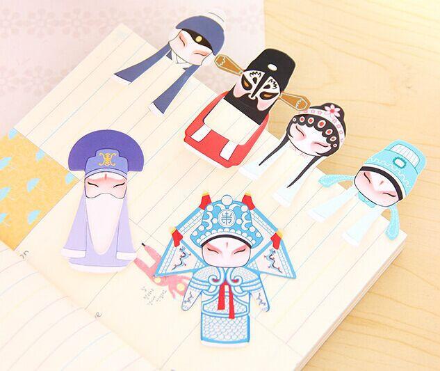 Lovely stationery Chinese classical elements of Peking Opera drama set 7 into the mini bookmarks facebook originality(China (Mainland))