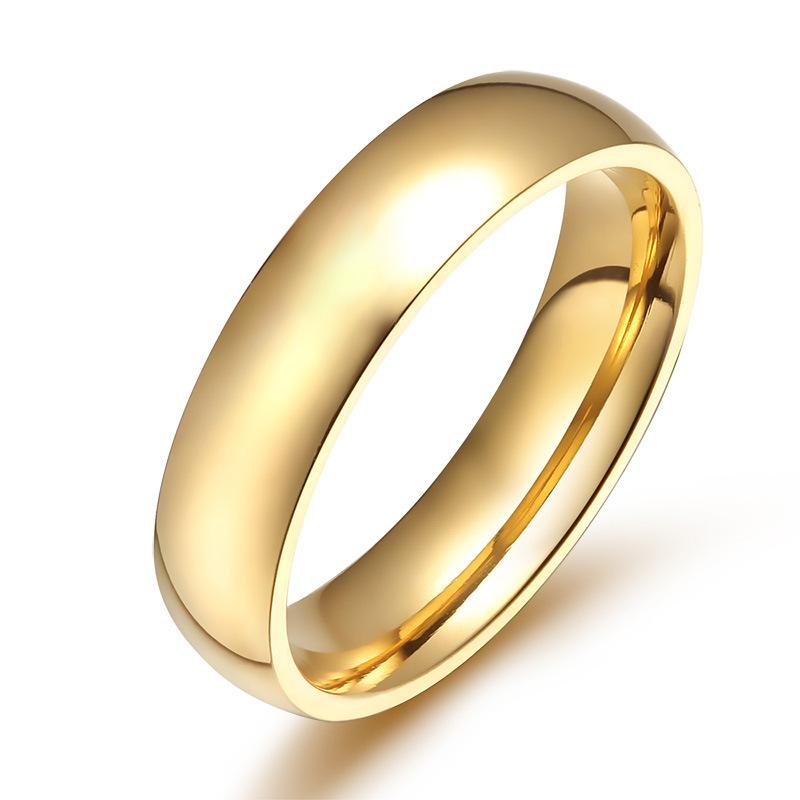 18 k or anneau de mariage anneaux du parti doigt en acier inoxydable ...
